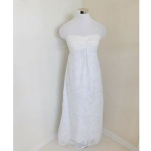 Lilly Pulitzer XS Megan Maxi Dress Strapless White